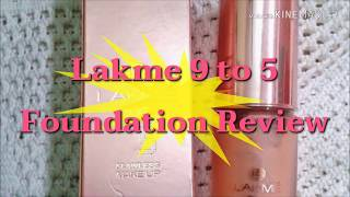 Lakme 9 to 5 Flawless Foundation Review