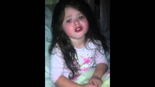 Irish  traveller chanel Mcdonagh  4 year old singing I will always love you