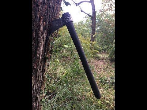 Forging a farrier rasp tomahawk