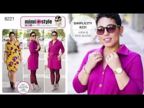 How to Sew a Shirt Dress with Mimi G Simplicity Pattern 8221 - YouTube