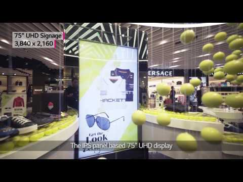 "[Retail] LG 86"" Ultra Stretch - Lagardere's The Fashion Gallery, Singapore"