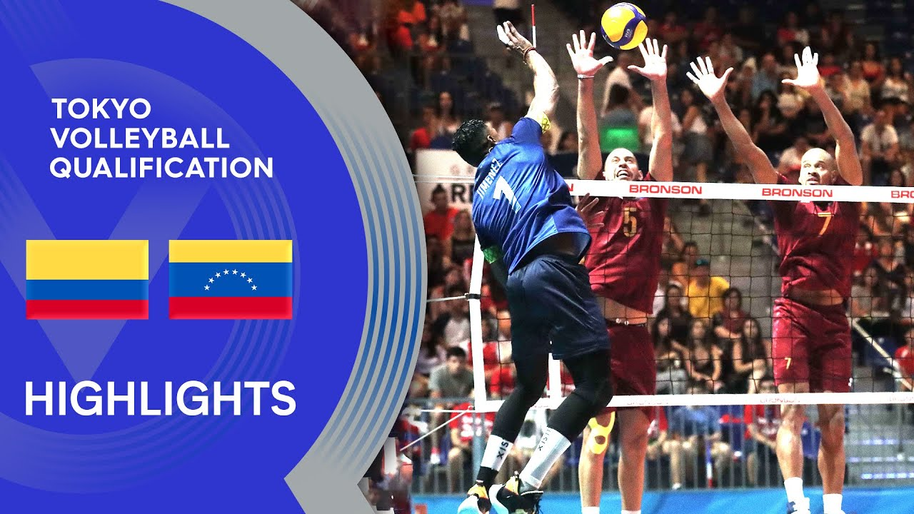 Colombia vs. Venezuela - Highlights | CSV Men's Tokyo Volleyball Qualification 2020
