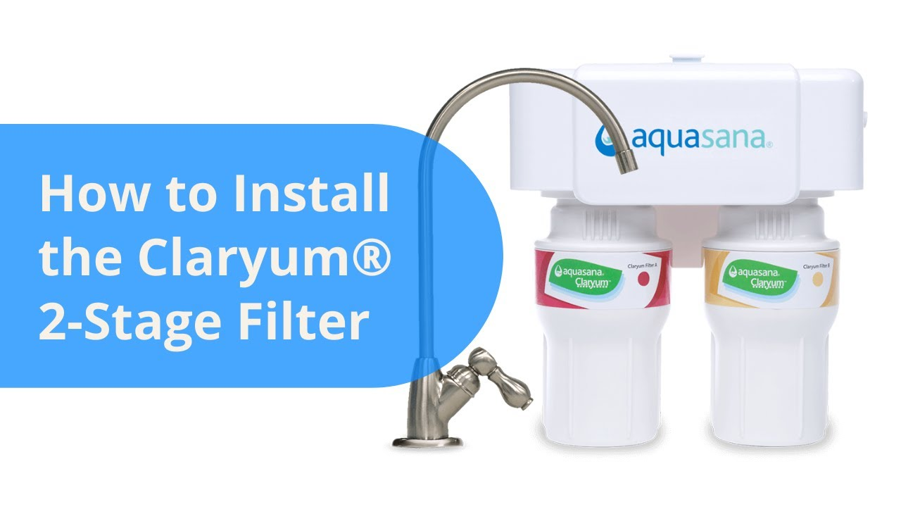 How To Install An Aquasana Aq 5200 Under Counter Drinking Water Filter System You