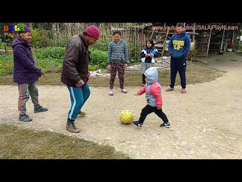 Toddler learning videos | Outdoor Activities | Fun playing football with Family in Manipur Jan 2018