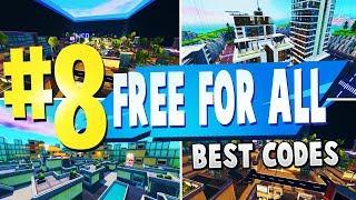 TOP 8 melhor gratuito para todos os mapas criativos em Fortnite | CÓDIGOS de mapa de FFA do Fortnite (novos mapas)