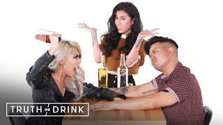 My Girlfriend's Ex and I Play a Game of Truth or Drink | Truth or Drink | Cut