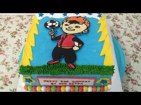 How To Make Birthday Cake Decorate Boboiboy Cake Youtube