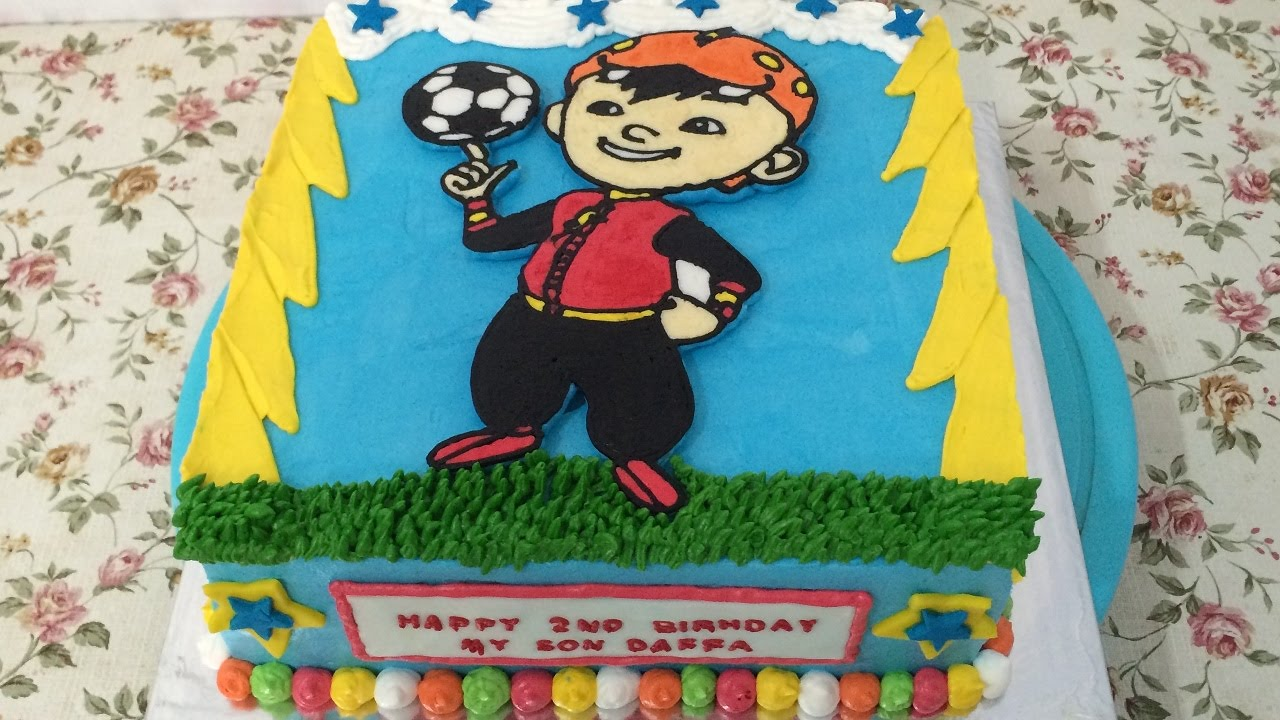 How To Make Birthday Cake Decorate Boboiboy Cake