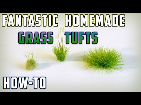 DIY Static Grass Tufts – Model Railroad – How-to