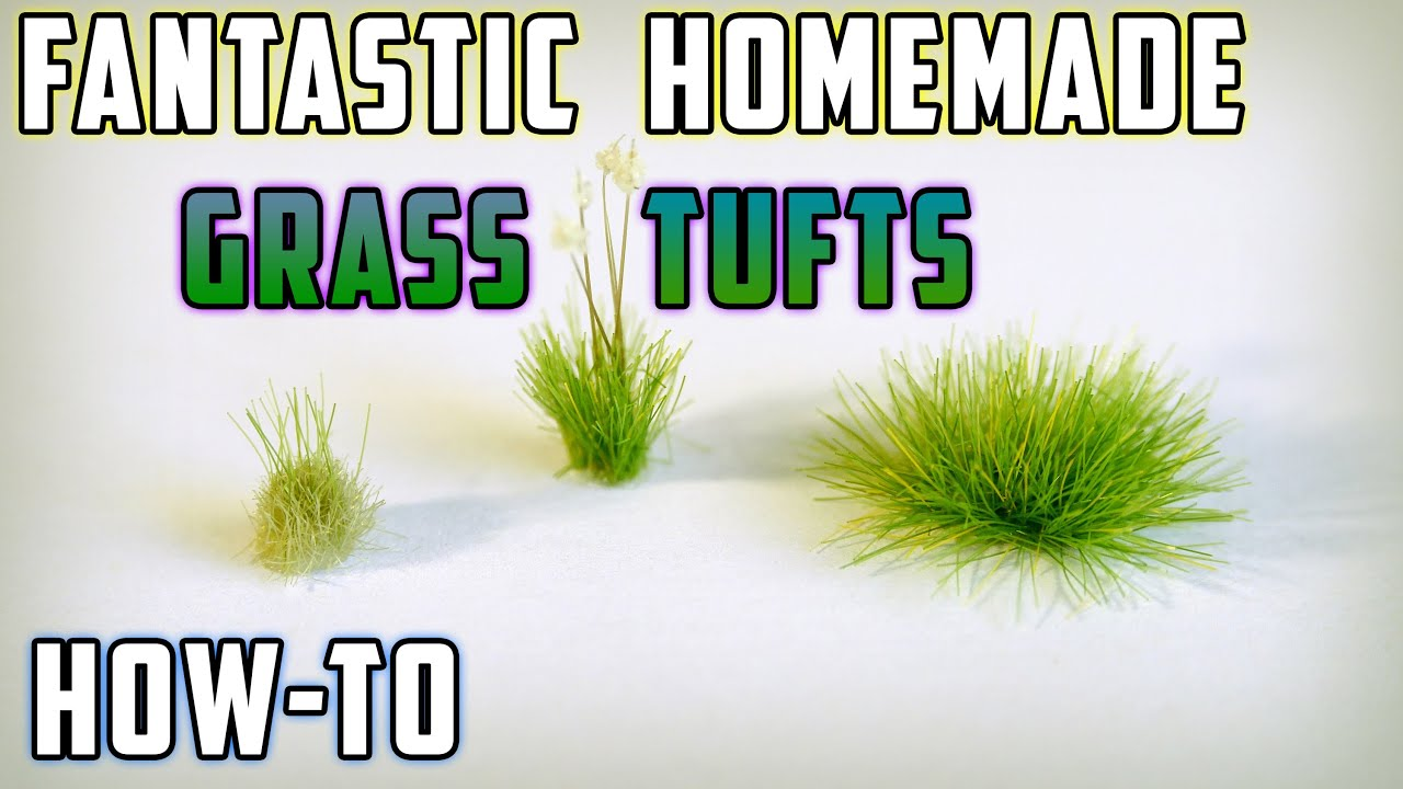 DIY Static Grass Tufts – Model Railroad – How-to - YouTube