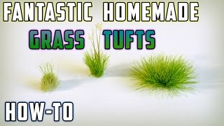 diy static grass tufts model railroad how to