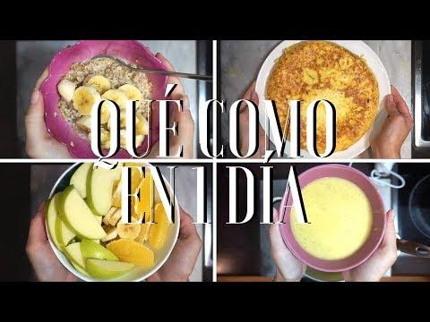 QUÉ COMO EN 1 DÍA | Tortilla de patatas, crema de verduras...