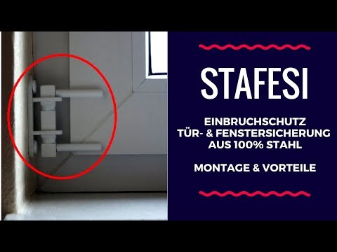 nachr sten einbauen der stafesi t r fenstersicherung einbruchschutz t r fenster youtube. Black Bedroom Furniture Sets. Home Design Ideas