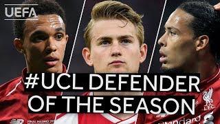 UEFA Awards: UCL Defender of the Season shortlist