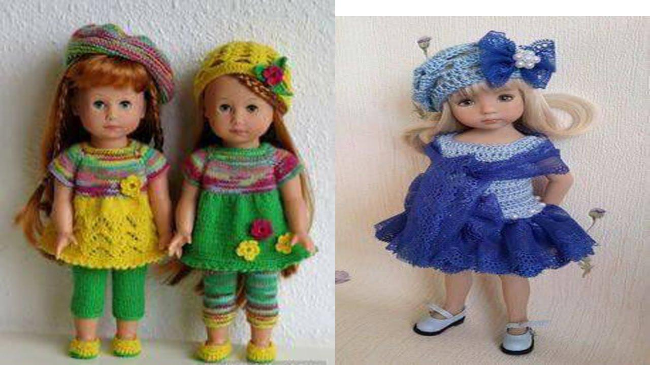 Ropa Tejida En Crochet y Dos Agujas para Muñecas - YouTube