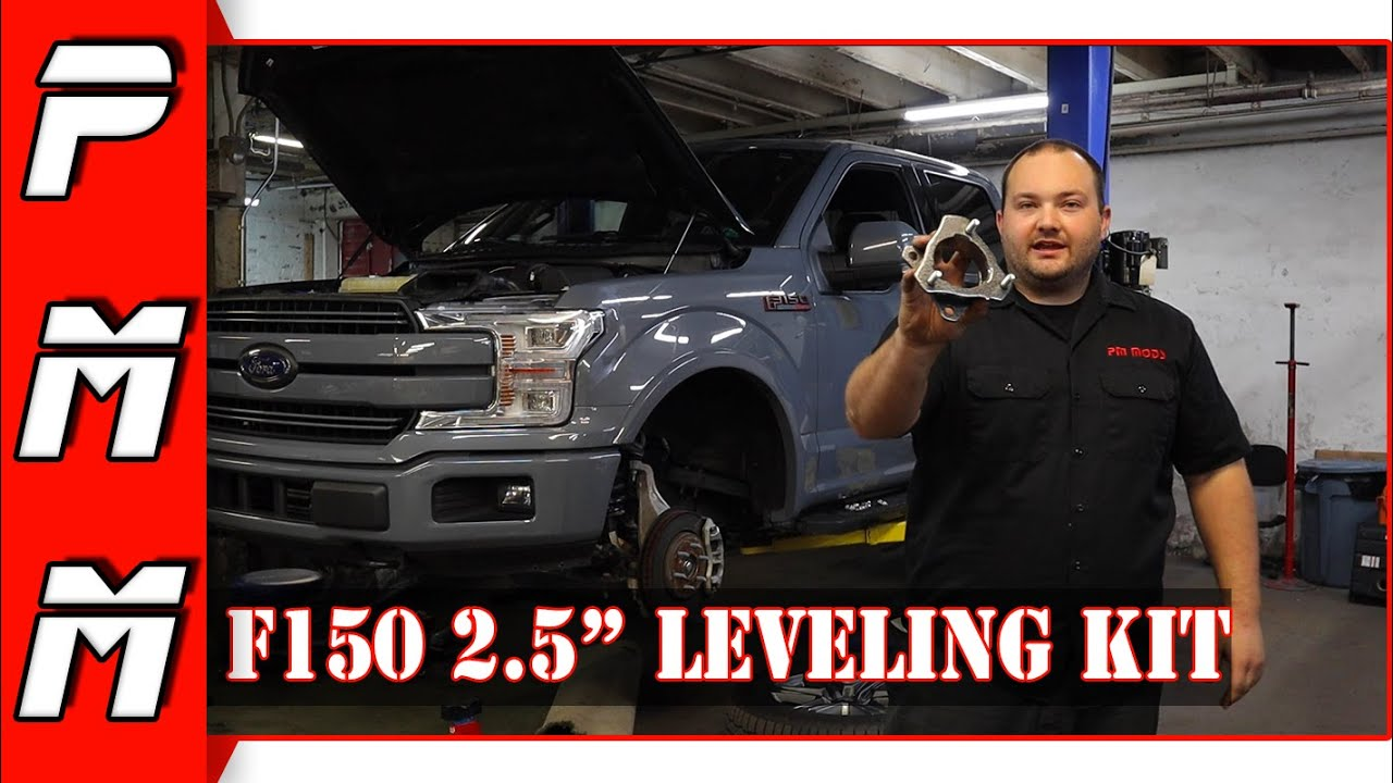 """F150 2.5"""" Leveling Kit Install   Rugged Off Road 2015+ F150 Leveling Kit"""