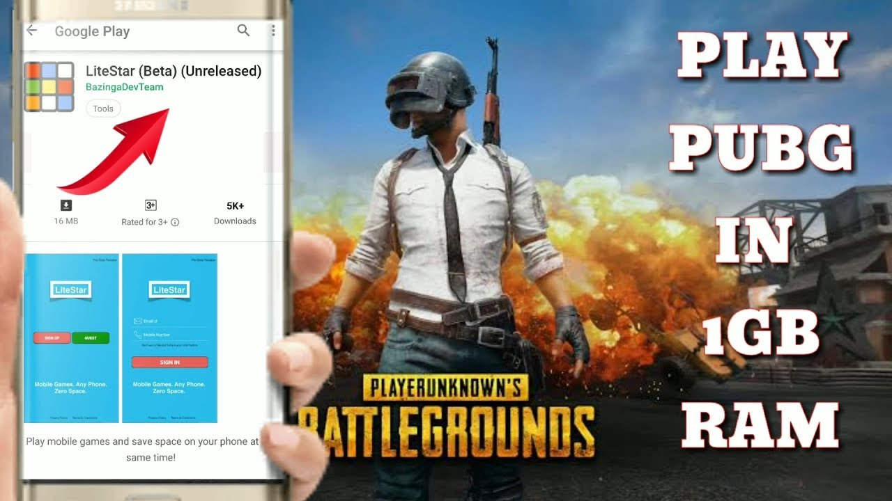 Litestar apk Officially Out for Pubg Mobile in 1Gb Ram
