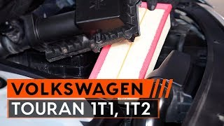 Luchtfilter installeren VW TOURAN: videohandleidingen