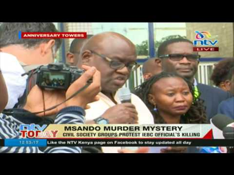 Githongo says Chris Msando's death is an attack on IEBC's preparation