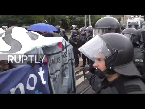 LIVE: Leftists protest against German Unity Day in Dresden