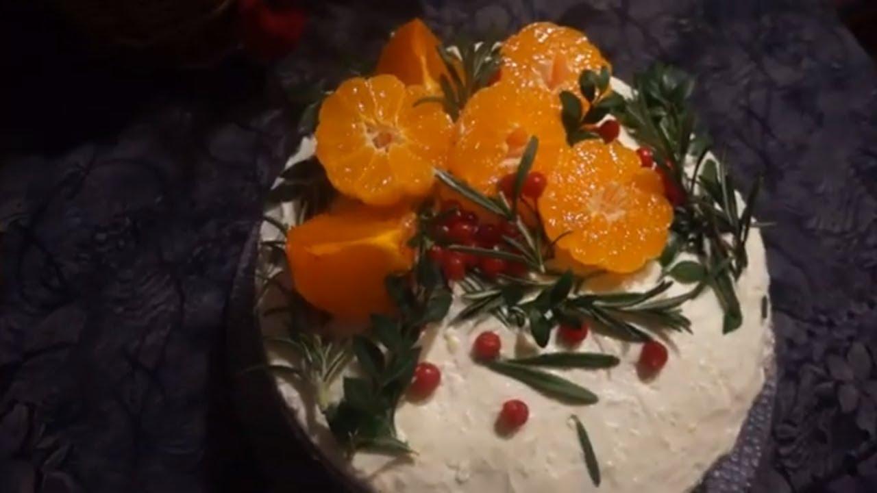 Праздничный Домашний Торт 2020 Очень Нежный и Пропитанный/ New Year Cake Recipe