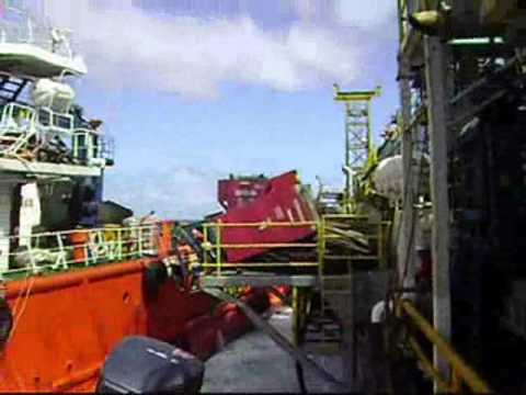 Seadrill Rig vs Supply Boat Collision