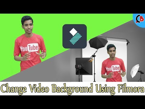 How To Change Video Background Using Filmora🖥 (Hindi) ||  Creative Bijoy