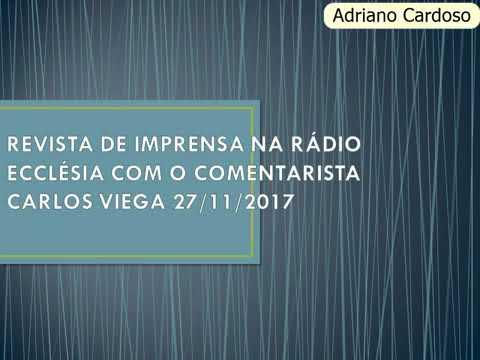 REVISTA DE IMPRENSA NA RÁDIO ECCLÉSIA COM O COMENTARISTA CARLOS VIEGA - ANGOLA
