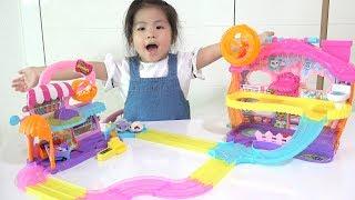 신기한 햄스터들이 있어요!! 서은이의 햄스터 타운 장난감 가지고 놀기 선물 언박싱 개봉 Hamster Town Toys