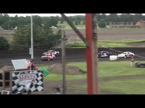 IMCA Stock Car Heat 2 Benton County Speedway 6/9/19