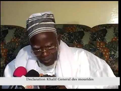 Fermeture cimetiere de Touba declaration khalif general des mourides lue par Serigne Mountakha