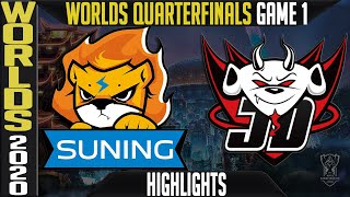 SN vs JDG Highlights Game 1 | Quarterfinals Worlds 2020 Playoffs | Suning vs JD Gaming G1