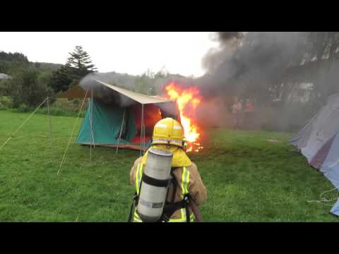 Fire Safety Cubs Tent Burning Test