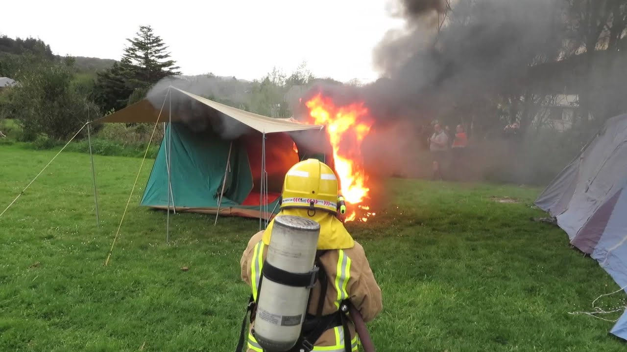 how to make a fire inside a tent