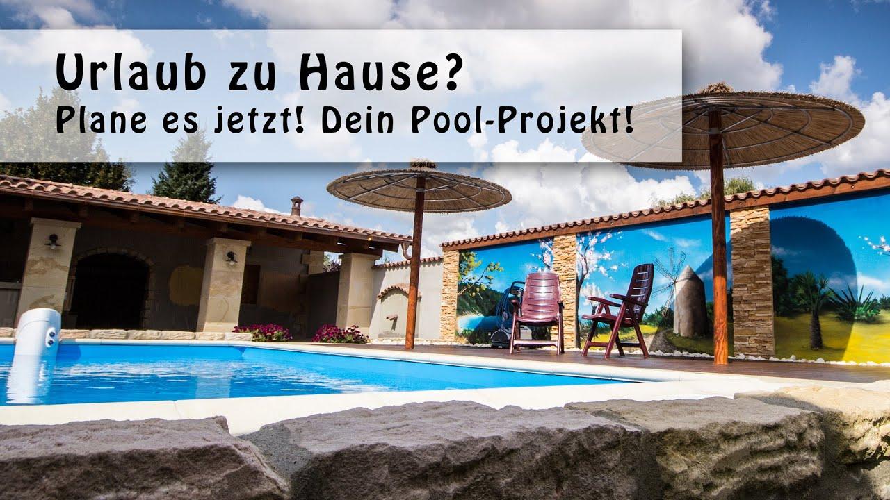 ... Zuhause? So wirds gemacht! Ein eigener Pool im Garten. - YouTube