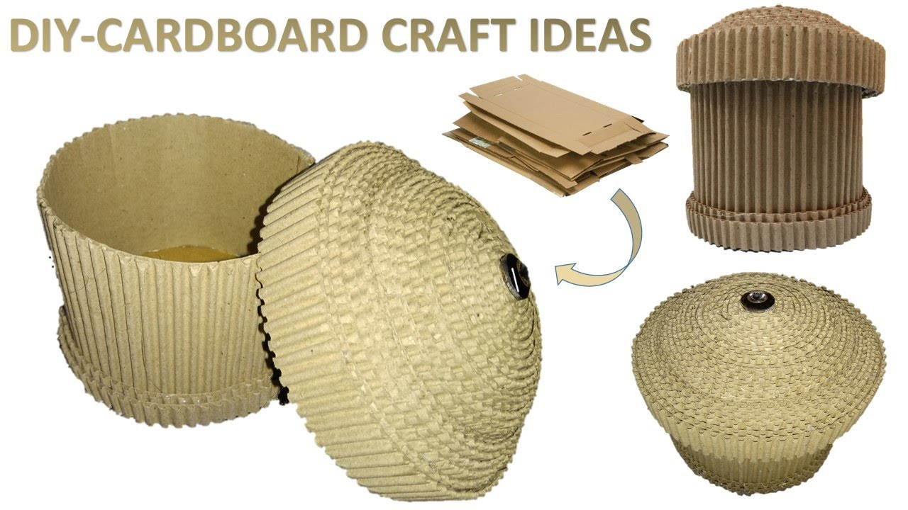 How To Make Cardboard Box Diy Useless Cardboard Craft Ideas Youtube