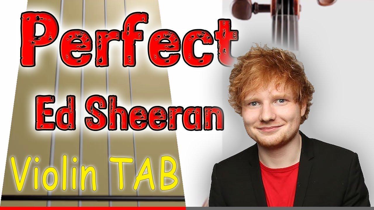 Perfect - Ed Sheeran - Violin - Play Along Tab Tutorial