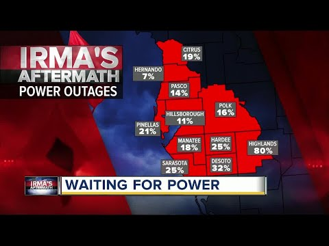 Hurricane Irma: Hundreds of thousands experiencing power outages in Tampa Bay