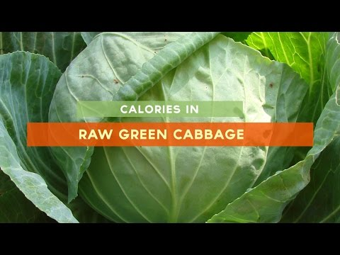 Calories in green cabbage [raw, salad, braised] Nutrition and Health Facts