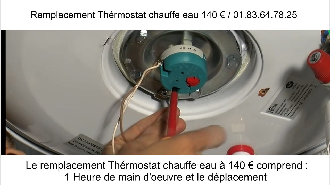remplacement thermostat chauffe eau youtube. Black Bedroom Furniture Sets. Home Design Ideas