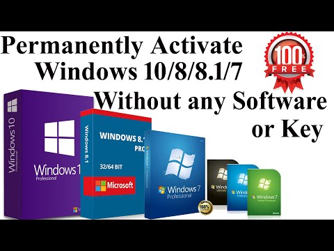 How to Activate Windows 10/8/7 For free | How to Activate Windows 10 for FREE without any Software