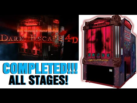 Namco Dark Escape 4D Arcade Game Complete Play Through