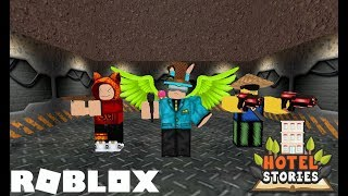 Area 51 Raid in Hotel Stories | ROBLOX ft. secret games and James RBLX