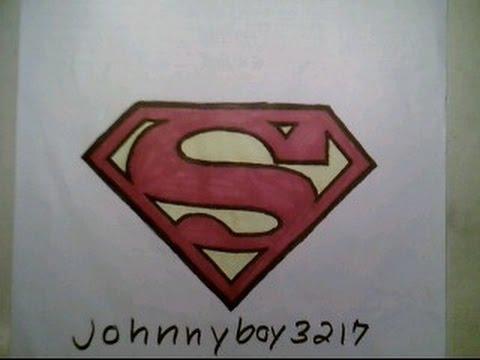 How To Draw Superman Logo 2 Symbol Emblem Tattoo Step By Como