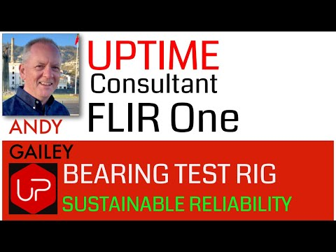 EDT Corp Bearing test rig with FLIR One