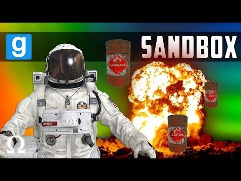 DESTROYING THE MOON, BARRELS O' FUN! | Garry's Mod Sandbox Funny Moments Ft. Vanoss / Cartoonz / Lui