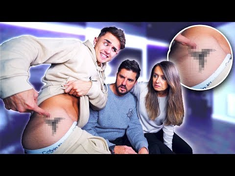 SHOWING MY PARENTS MY SECRET TATTOO! *Holiday Tattoo Reveal* (Not Clickbait)