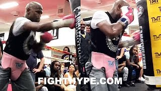 MAYWEATHER'S GATLING GUN COMBINATION; FIRES OFF DEADLY ACCURATE FLURRY OF PUNCHES