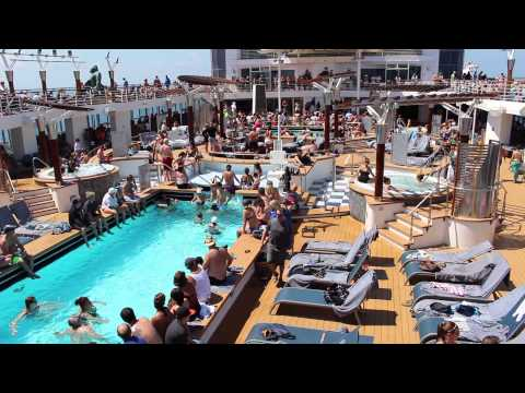 Celebrity Constellation Deck 10: Outdoor Pools ... - YouTube