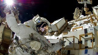 LIVE Spacewalk ISS Expedition 53 U.S. EVA #46 (Bresnik and Acaba) Camera Replacement